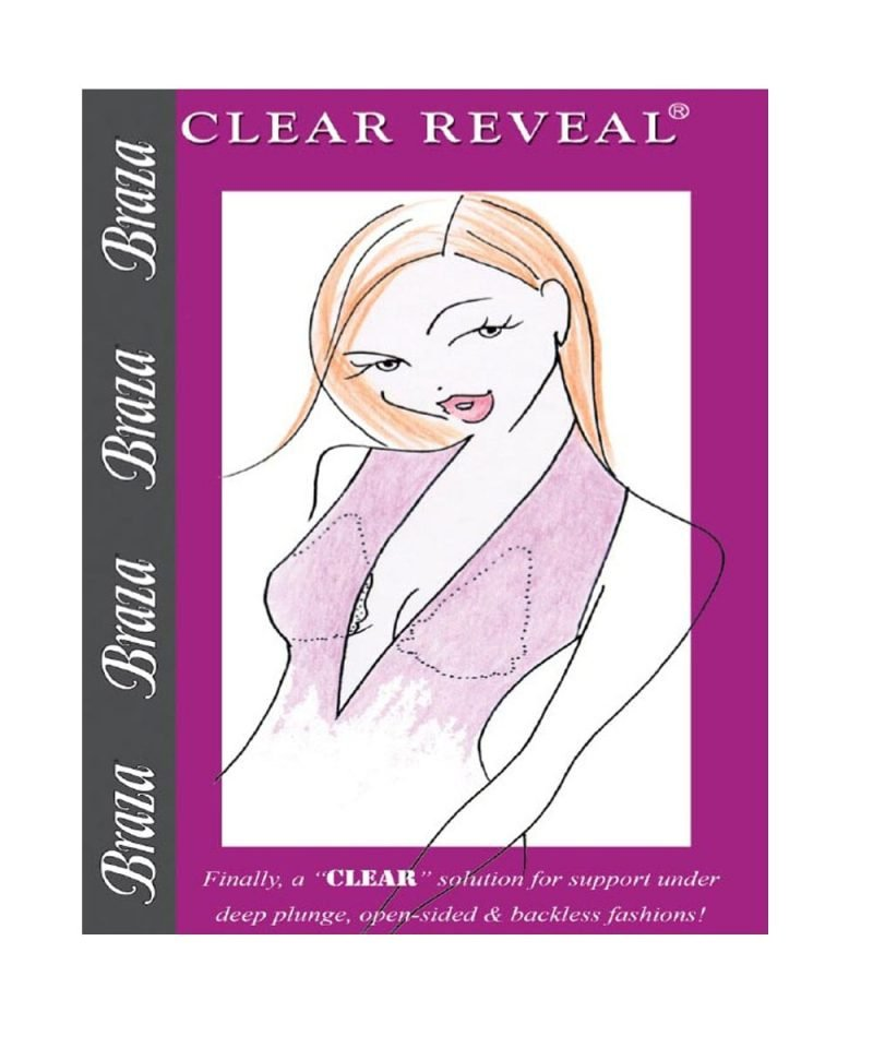 Clear reveal adhesive bra