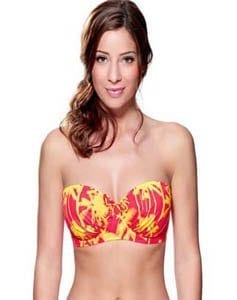 Miami Girls Red & Yellow Bikini Top