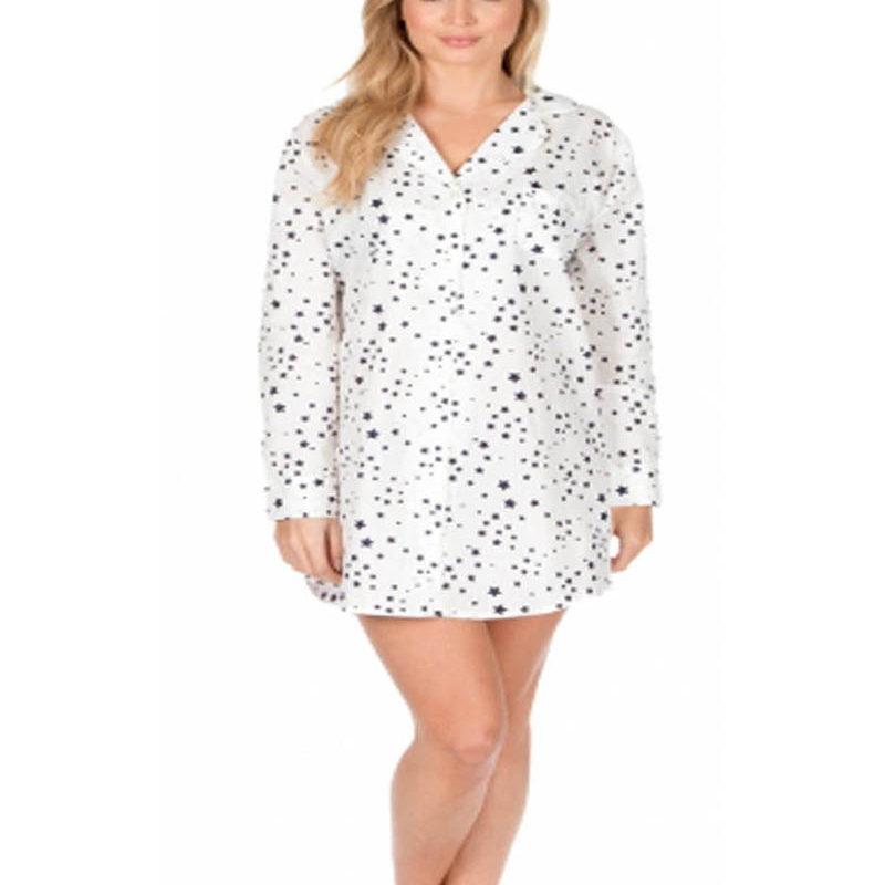 Ladies Cotton Nightshirts Stars Design