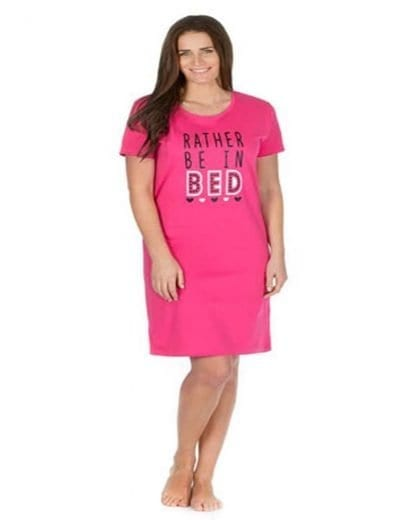 """Rather Be In Bed"" Jersey Nightdress"