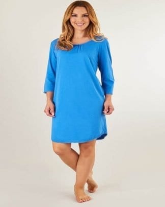Slenderella Blue Cotton Nightshirt