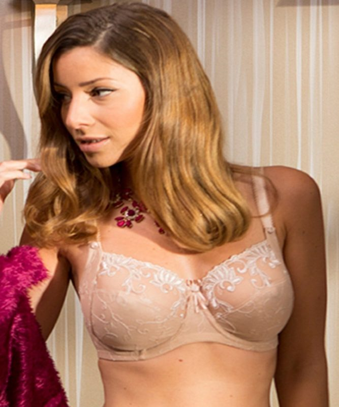 Imogen Rose Underwire Bra In Nude From Pour Moi