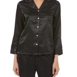 Black Satin Pyjamas From Gaspe