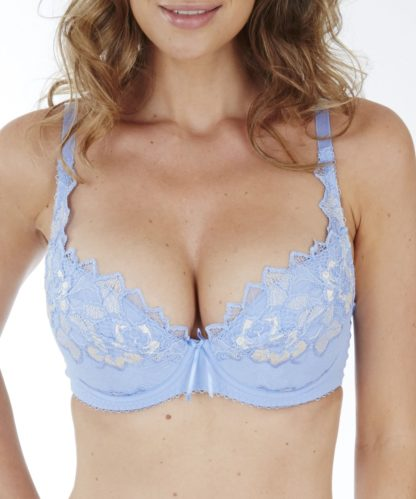 Lepel Fiore Padded Plunge Bra in Soft Blue