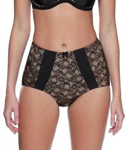 Charnos Superfit Black High Waist Knickers