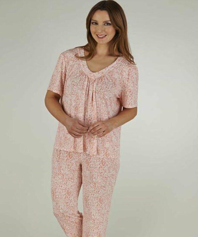 Ladies Pyjamas - Coral Animal Print