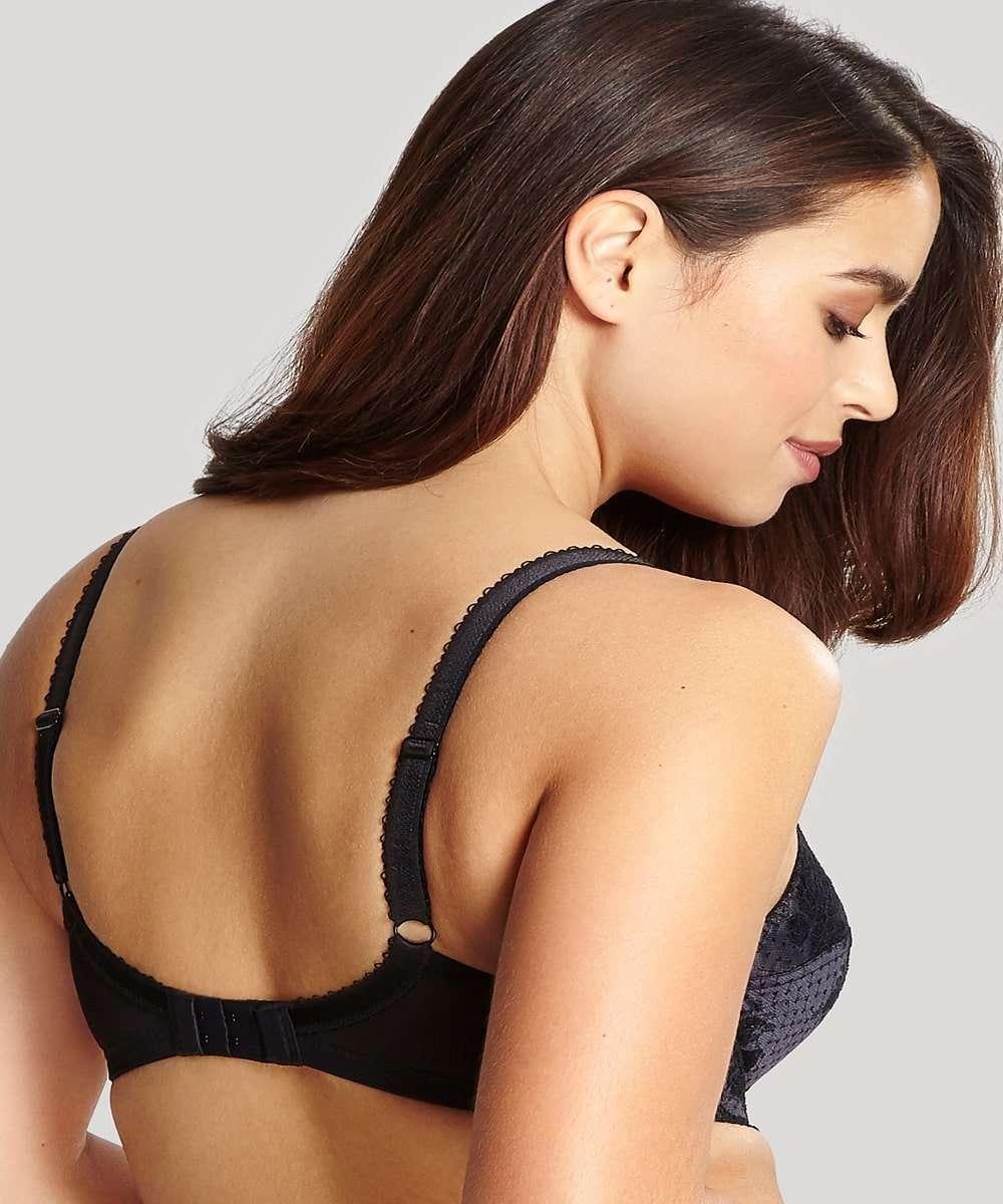Panache Clara Lace Bra Black Back Model