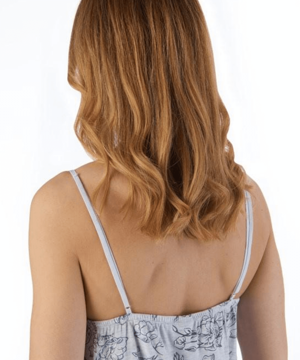 Back of Floral Jersey Chemise