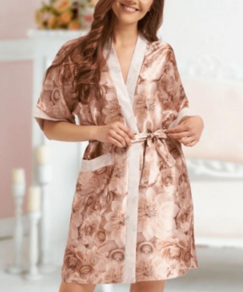 Rose Gold Satin Robe